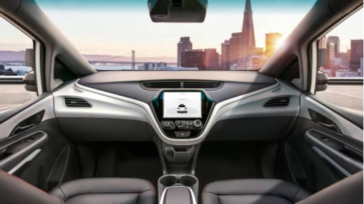 GM's latest self-driving vehicle is a modified Chevy Bolt without a steering wheel or pedals.