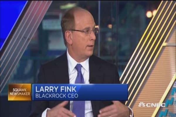 BlackRock's Larry Fink: 'Suprised' by huge inflows in bonds