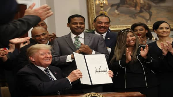 President Trump signs Martin Luther King Day proclamation, doesn't answer press questions