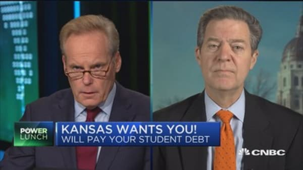 Kansas Gov. Brownback: Repaying student loans as rural recruitment