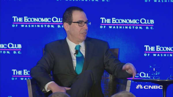 Treasury Secretary Mnuchin: I didn't realize Davos was 'the global elite'