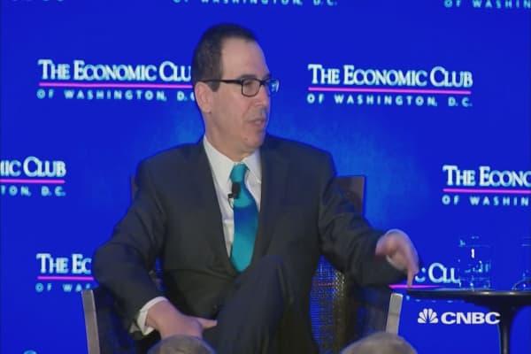 Treasury Secretary Mnuchin: I didn't realize Davos was 'the global elite'