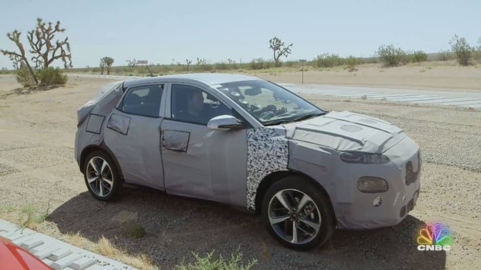 Jay Leno goes for a very bumpy ride in the new Hyundai Kona