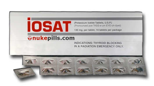 Potassium iodide pills protect against thyroid cancer in the event of a nuclear disaster.