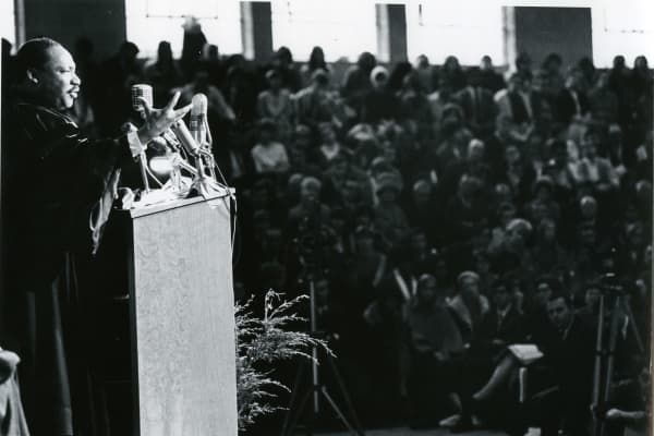 Martin Luther King, Jr. taken at Grinnell College in 1967.