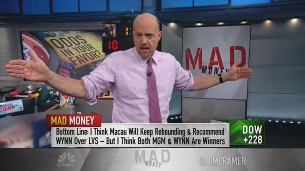 Cramer bullish on casino stocks