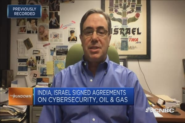 India and Israel have growing technology and defense ties