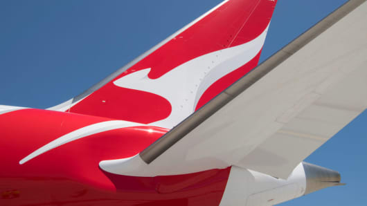 The first commercial flight of the Qantas Boeing 787 Dreamliner on December 15, 2017.