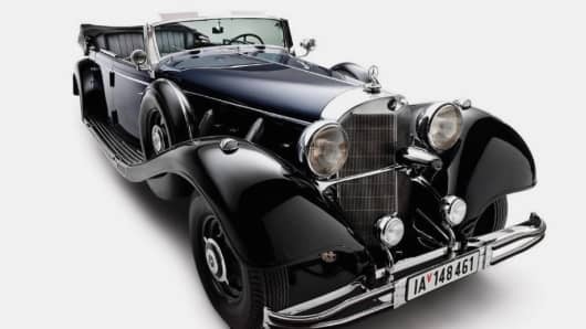 A 1939 Mercedes-Benz 770K Grosser Offener Tourenwagen built for and used by Nazi leader Adolf Hitler.