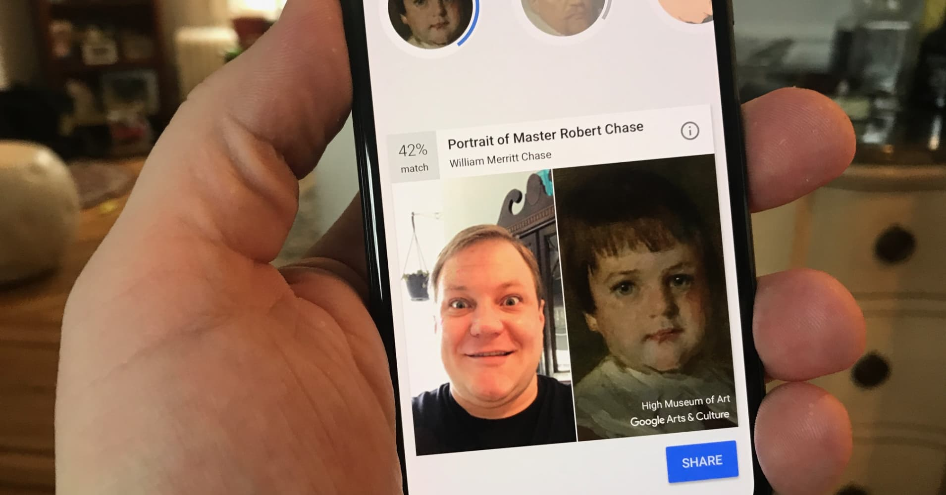 How to use the new Google app that matches your face with paintings
