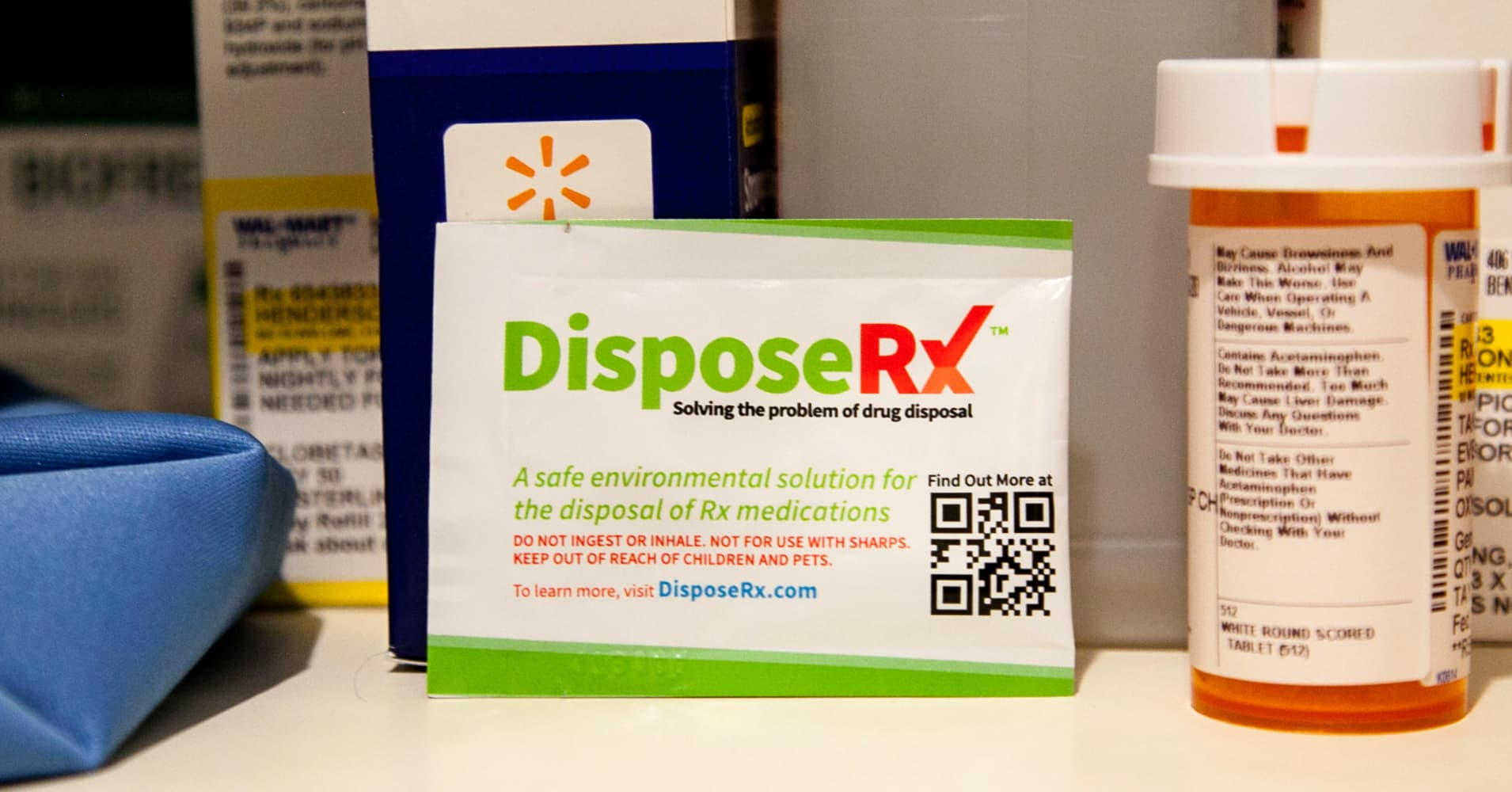 Walmart offers free opioid disposal product