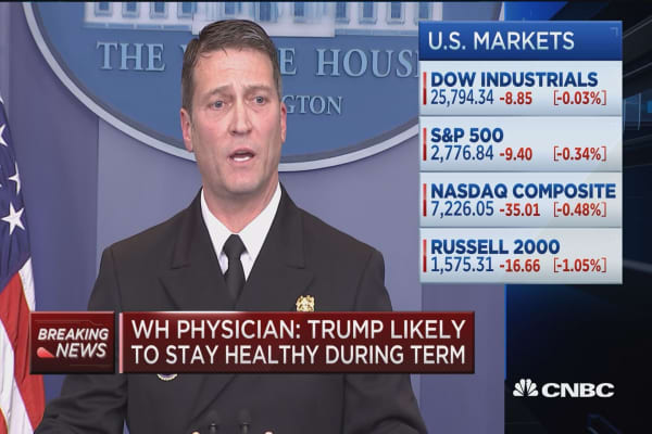 WH Physician: Trump is fit for duty