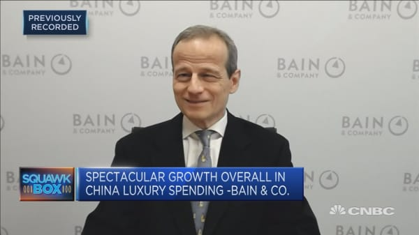Luxury spending in China grew 20 percent in 2017: Bain
