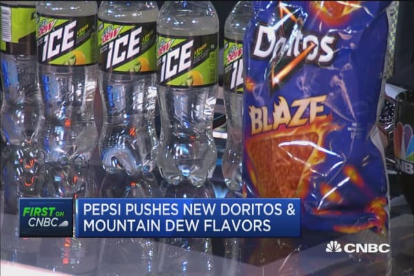 Pepsi pushes new Doritos and Mountain Dew flavors