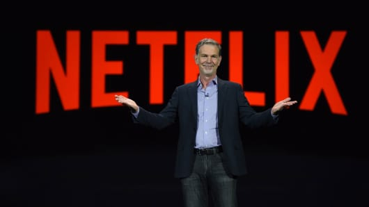 Netflix CEO Reed Hastings gives a keynote address, January 6, 2016 at the CES 2016 Consumer Electronics Show in Las Vegas, Nevada.