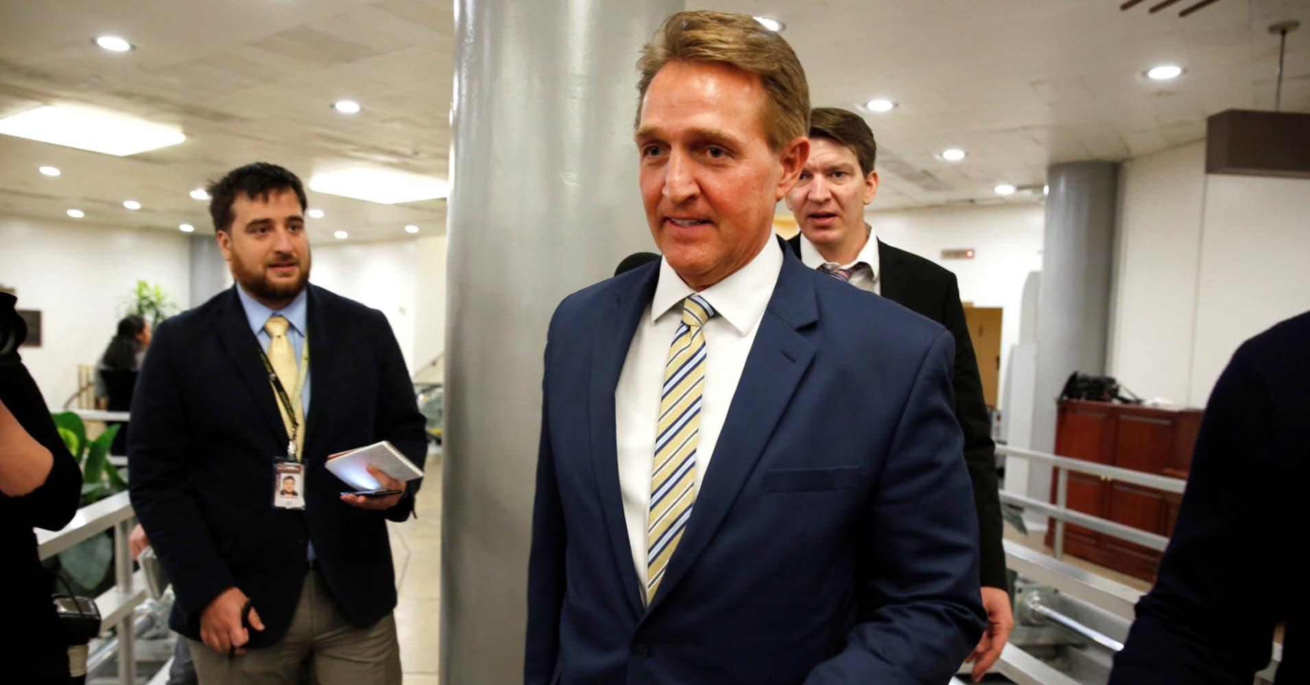'The free press is the despot's enemy': Read Flake's Senate speech condemning Trump