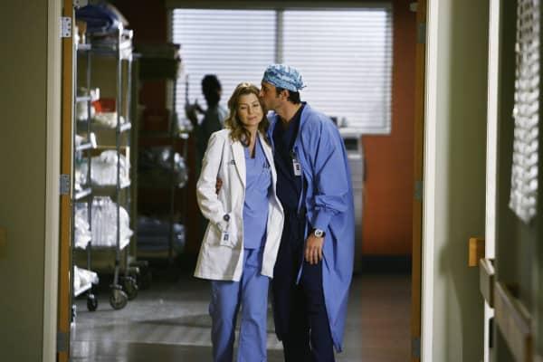 "Ellen Pompeo and Patrick Dempsey on ""Grey's Anatomy."""