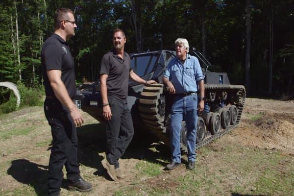 Jay Leno gets behind the wheel of a $400,000 civilian luxury tank