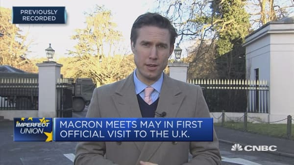 Macron visits UK for the first time