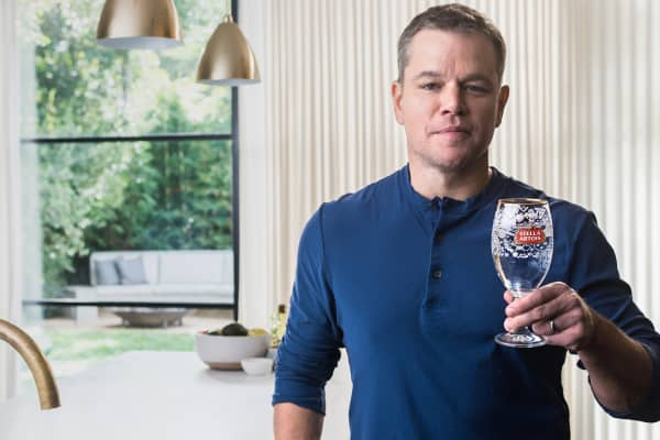 Matt Damon will feature in Stella Artois' Super Bowl 2018 commercial
