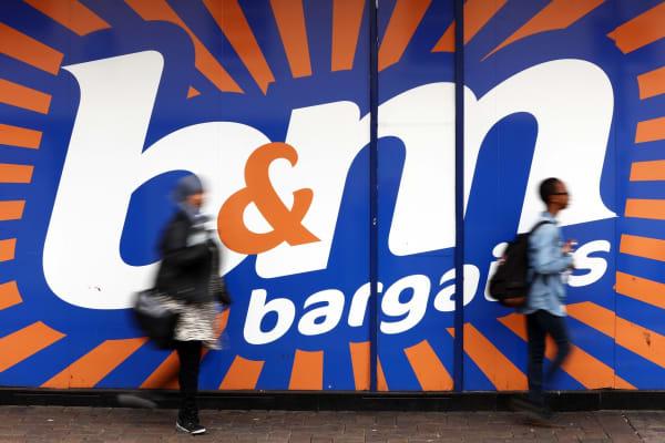 B&M store near London, U.K
