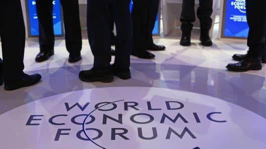 Delegates at the World Economic Forum in Davos
