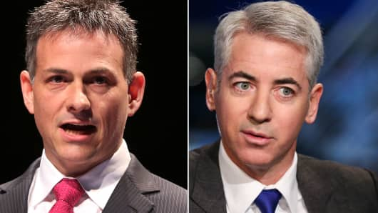 Activist investors: David Einhorn (l) and Bill Ackman.