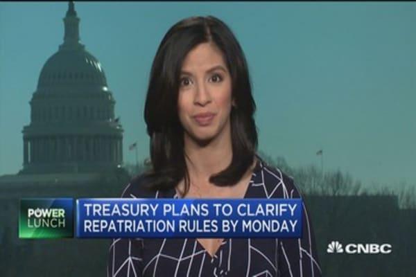 Companies await guidance from Treasury on repatriation