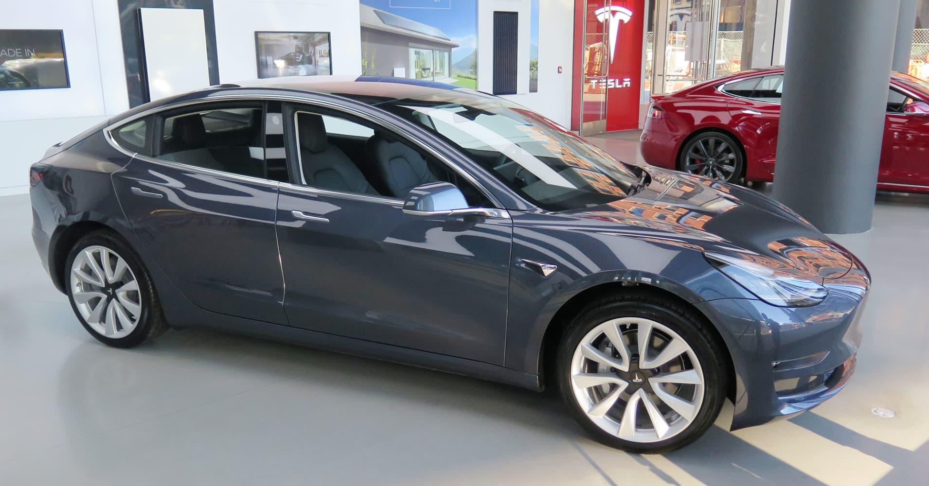 Tesla brings Model 3 to three East Coast showrooms