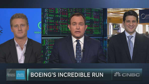 Boeing stock's incredible run