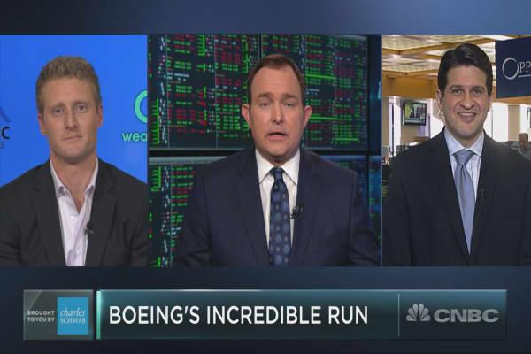 Boeing stock's incredible run