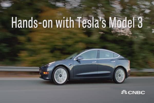 Tesla's Model 3 hits the East Coast