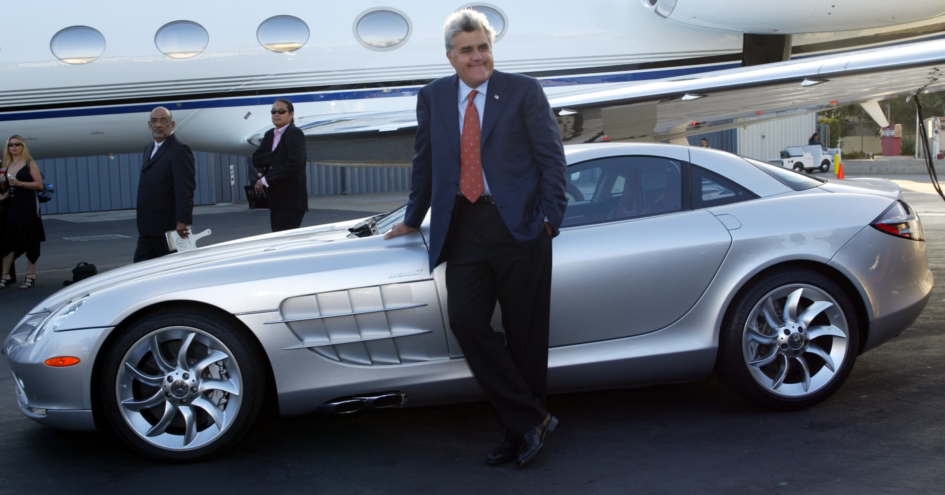 Jay Leno drives his McLaren to the 'Best Of The Best: Los Angeles'