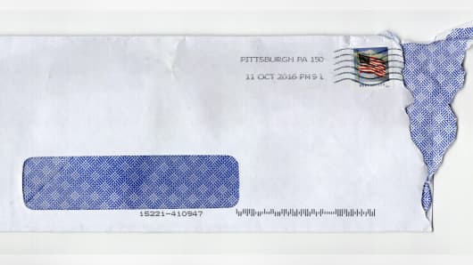 This is the envelop Dave Eargle received the letter in.