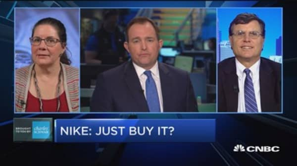 Nike shares surge 5 percent