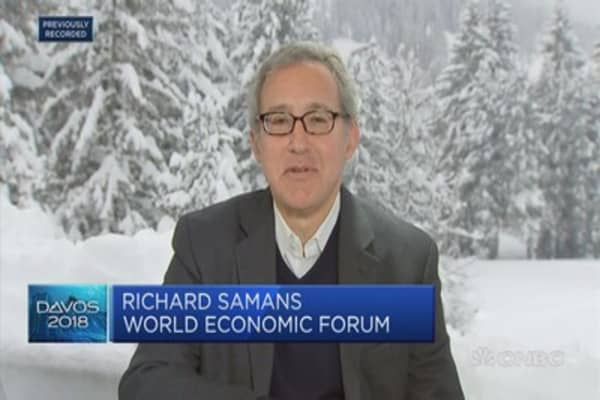 WEF's Samans: Great interest to know path of US policy