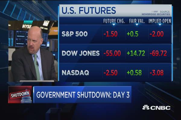 Government shutdown doesn't make sense to people: Jim Cramer