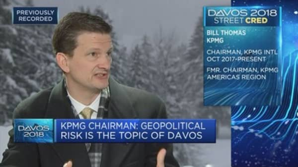 Geopolitical risk is the topic of Davos, KPMG chairman says