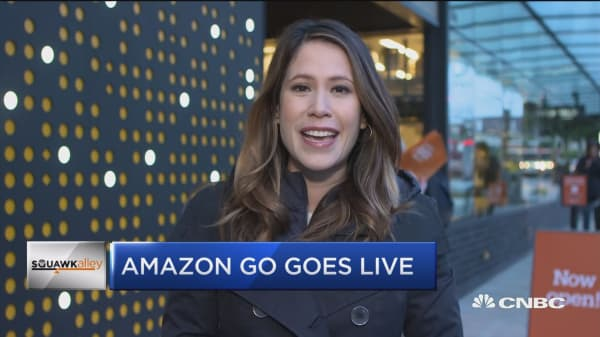Amazon's cashier-free store opens to the public
