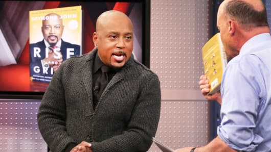 "Daymond John with Jim Cramer on CNBC's ""Mad Money."""