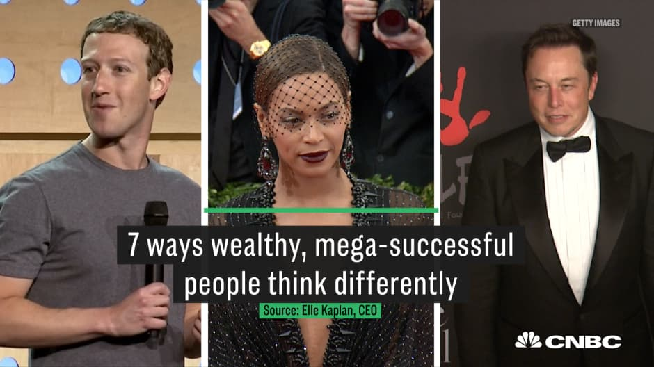 7 ways wealthy, mega-successful people think differently