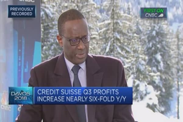 Credit Suisse CEO: Starting to see benefits of growth