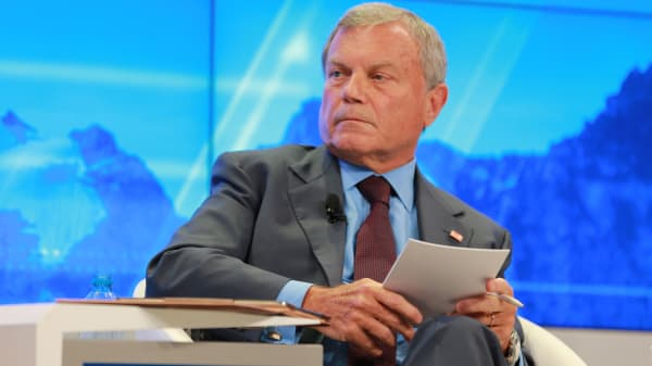 Martin Sorrell at the 2018 WEF in Davos, Switzerland.