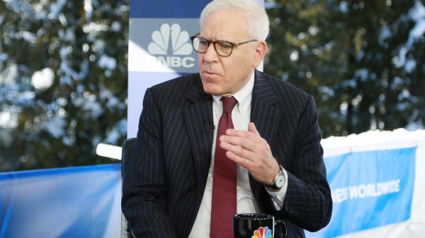David Rubenstein at the 2018 WEF in Davos, Switzerland.