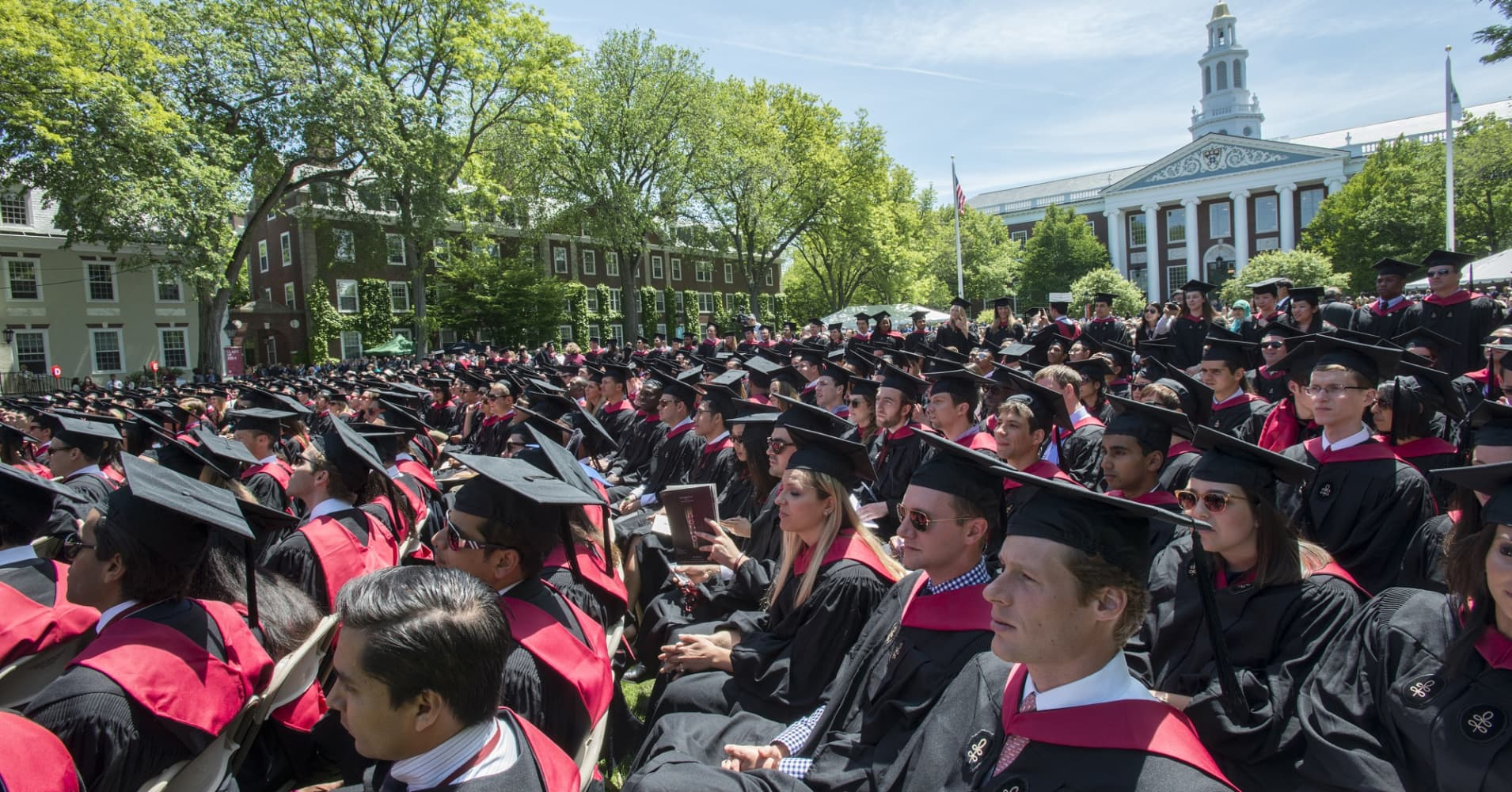 Harvard Business School graduation. Massachusetts ranks No. 1 in the U.S. for Education.