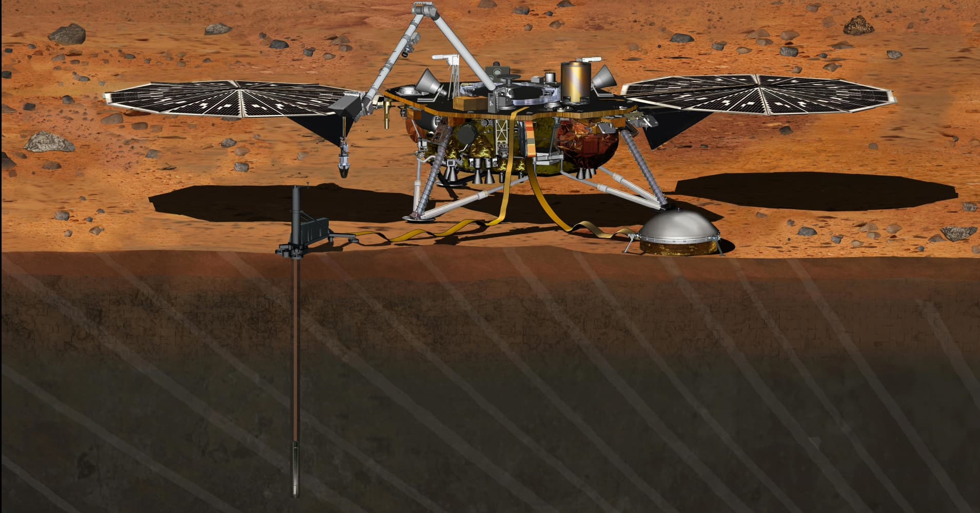 An artists' rendering of the robot NASA will send to Mars in 2018.