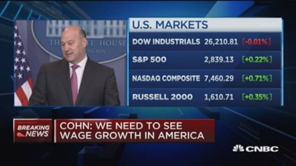 Cohn: President wants to see companies build products in the US