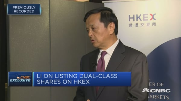 The Hong Kong Exchange is looking hard at a dual-class structure