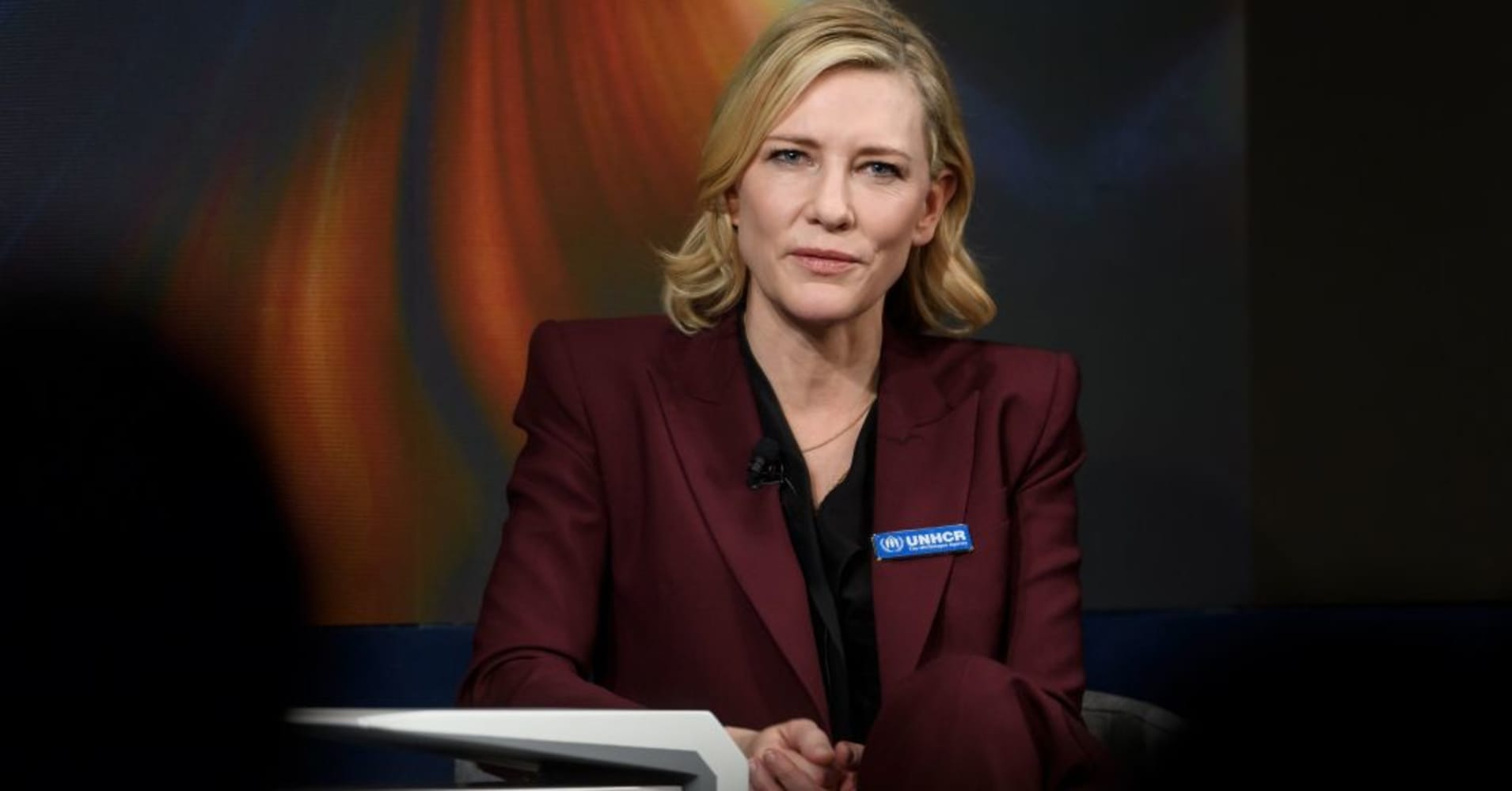 Cate Blanchett on being a UNHCR Goodwill ambassador and raising awareness about refugees at Davos