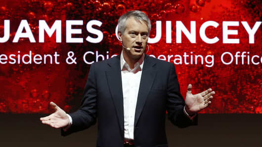 James Quincey, President and chief operating officer of the Coca-Cola company.